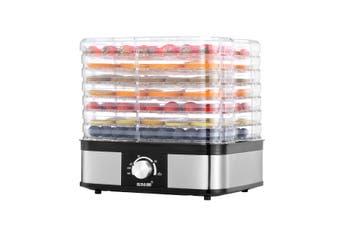 Food Dehydrator Fruit Meat Dryer Beef Jerky Maker with 7 Adjustable Trays   Black