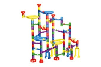 122PCS Marble Run Game Marble Race Track Light Marbles Kids Birthday Gift