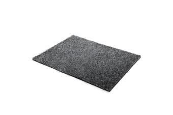 200x230cm Fluffy Shaggy Rug Large Shag Area Soft Carpet Home Bedroom Anti-Slip Floor Mat White & Black