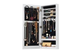 Wall Hanging Jewellery Cabinet Organizer w/ Photo Frames-White