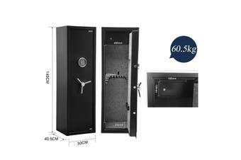 12 Gun Electronic Storage Locker Safe for Rifle Shotgun Pistol with Internal Security Box