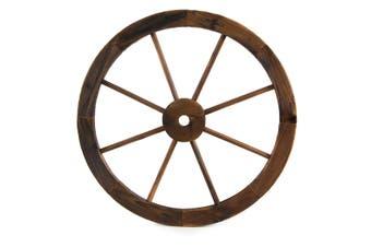 Large Vintage Wooden Wagon Wheel for Garden Decor