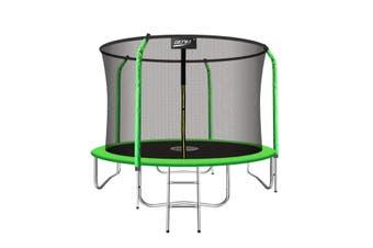 Genki 10FT Trampoline Set with Safety Enclosure Net W/Ladder
