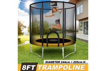 Genki 8ft Trampoline with Safety Enclosure Net