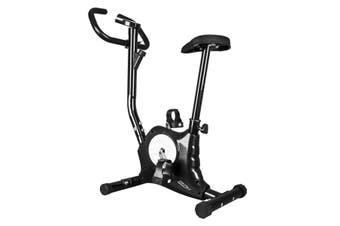 Genki Belt Bike Excercise Bike Cardio Equipment Upright Spin Bike Black