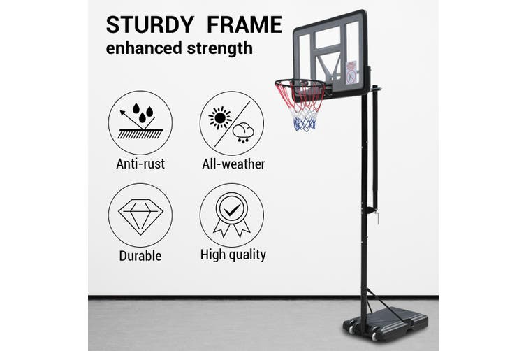 2.23 3.05m Large Portable Basketball Hoop Stand System Quick Height Adjustable