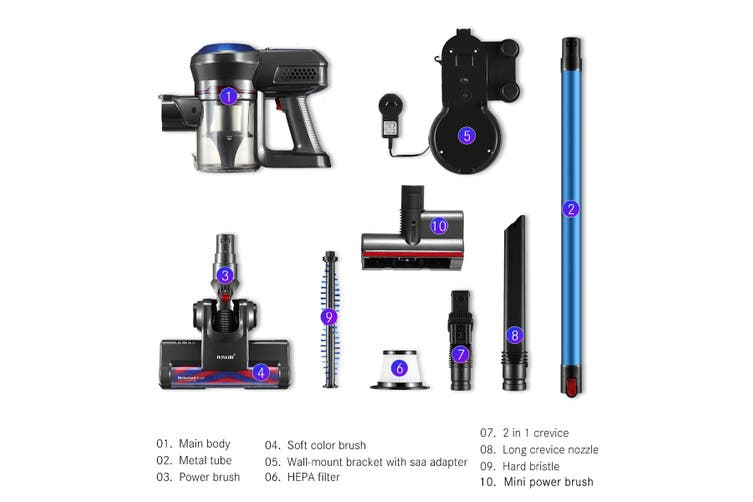 Multi function Bagless Stick Vacuum Cleaner Cordless Cleaning Rechargeable Battery with HEPA Filter