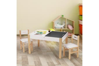 Kidbot Multifunctional Kids Table and Chairs Set Chalkboard Toys Play Storage Desk