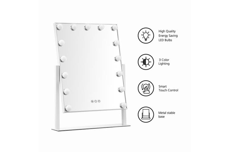 Maxkon 15 LED Bulb Hollywood Style Makeup Mirror with Touch Controls