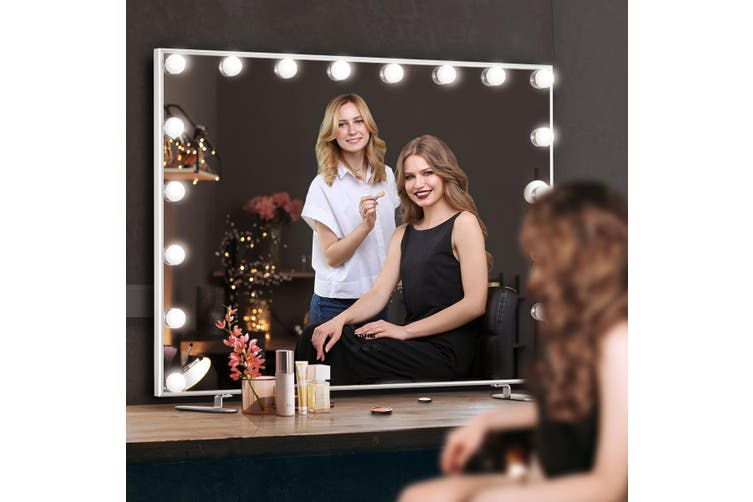 Maxkon 18 LED Bulb Hollywood Style Makeup Mirror with Adjustable Brightness