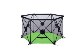 Kidbot Travel Child Pop Up Playpen Foldaway Baby Playpen 6 Panel Green