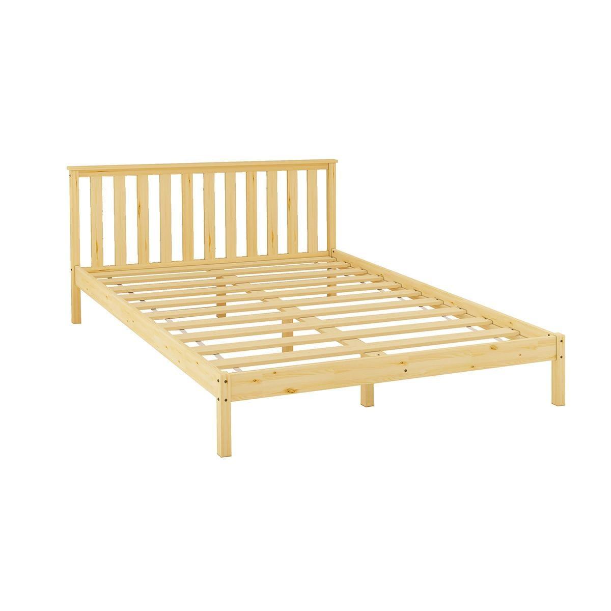 Wooden Bed Frame Queen Size Oak Platform Bed Base Bedroom Furniture Matt Blatt