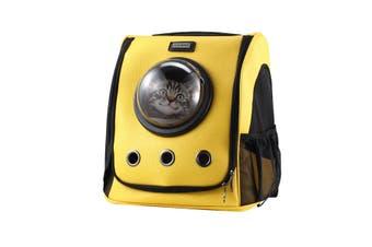 Petscene Cat Bubble Backpack Pet Carrier Kitten Puppy Travel Bag Yellow