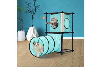 Petscene Cat Tree Tunnel Combination Cat Furniture Cat Toys