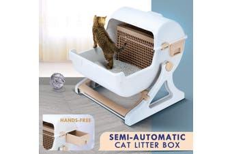 Petscene Cat Litter Box Pet Semi Automatic Cat Toilet Cat Furniture
