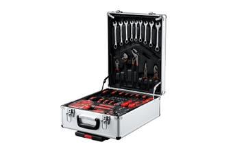 960 Piece Tool Kit Trolley Case 4 Tier Organiser Home Repair Storage Toolbox Set Silver