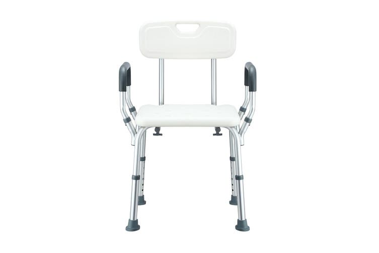Medical Shower Chair Bathtub Bath Seat Stool with Back and Armrests