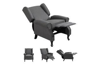 Modern Fabric Recliner Chair Lounge Single Sofa Deep Grey