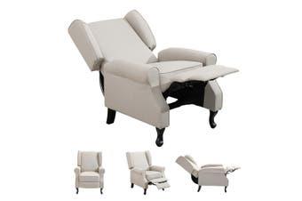 Modern Fabric Recliner Chair Lounge Single Sofa Beige