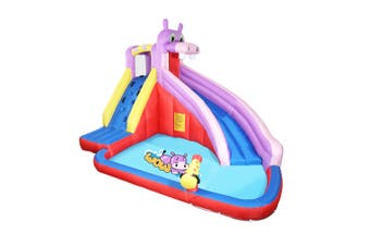 Kidbot Child Inflatable Water Slide Bouncy Castle Pool Play Centre Climbing Wall