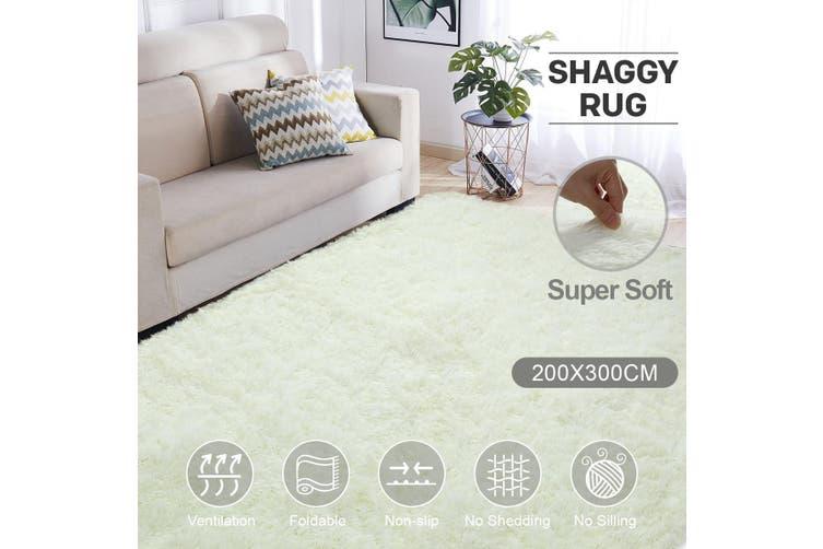 Creamy White 2x3m Fluffy Gy Rug