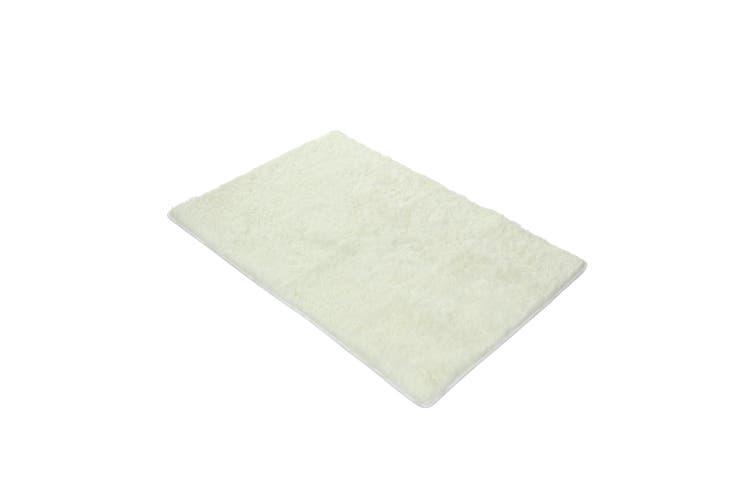 Creamy White 1.6x2.3m Fluffy Shaggy Rug Carpet Soft Area Rug Anti slip Floor Mat Bedroom