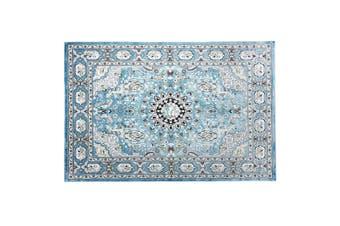 2x3m Soft Floor Area Rug Navy Blue Traditional Carpet Anti slip Mat Home Living Room Bedroom