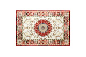 2x3m Soft Floor Area Rug Royal Red Traditional Carpet Anti slip Mat Living Room Bedroom