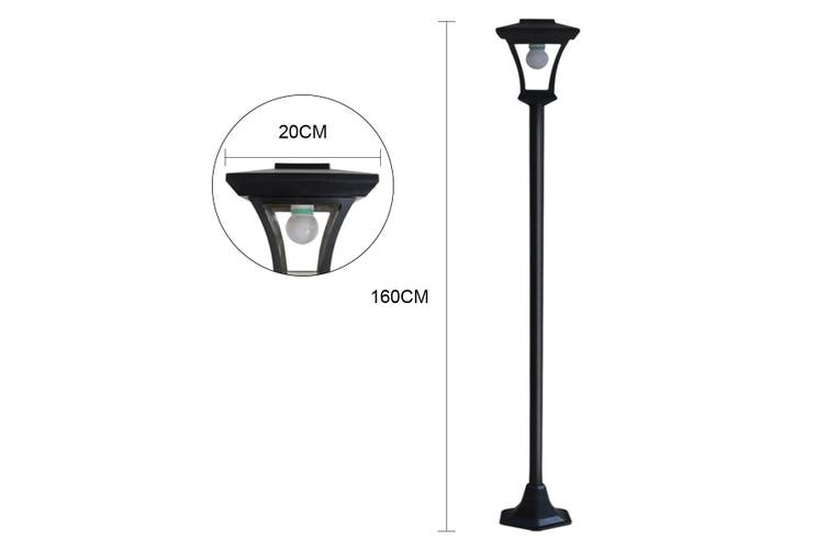 Deluxe Outdoor Solar Lights Garden Lamp Post X2