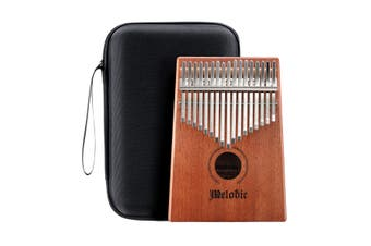 Melodic 17 Keys Kalimba Thumb Piano Instrument Mahogany Wood with Tuning Hammer