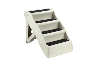 Petscene Foldable Pet Stairs 4 Step Ladder for Pet Cat Dog