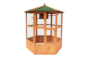 Petscene XL Wooden Bird Cage Pet Home Aviary Budgie Canary Parrot Finch House