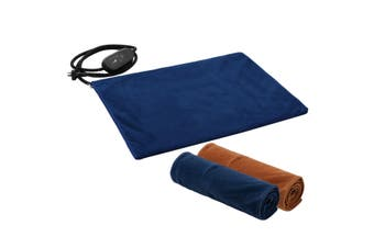 New Petscene 60x45cm Large Heated Dog Cat Pad Electric Pet Heating Bed Mat w/ Thermal Protection