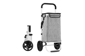 Waterproof Shopping cart Trolley Foldable Aluminium Grocery Bag Grey