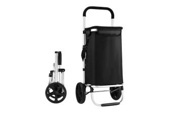 Waterproof Shopping cart Trolley Foldable Aluminium Grocery Bag Black