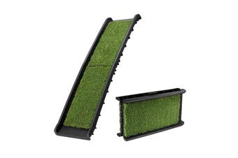 Petscene Folding Dog Ramp Stairs Steps /w Artificial Grass for Car SUV