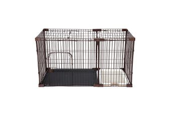Petscene XL Size Foldable Cat Dog Pet Cage Wired Crate House Enclosure w/ Toilet Tray