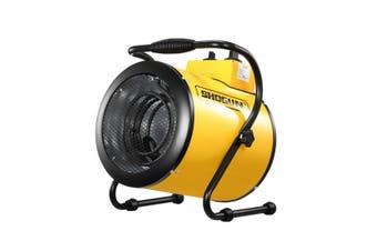2-in-1 3000W Portable Electric Industrial Fan Heater Free Standing Carpet Dryer SAA Yellow