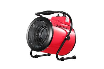 2-in-1 3000W Portable Electric Industrial Fan Heater Free Standing Carpet Dryer SAA Red
