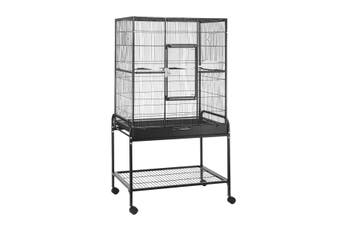 Petscene Large Metal Rolling Bird Cage with Wheels and Stand Budgie Parrot Aviary Canary