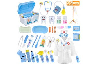 Doctor Pretend Play Equipment, Dentist Kit for Kids, Doctor Play Set with Case