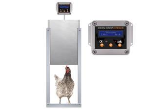 Petscene Automatic Chicken Coop Door Opener Controller Kit Timer Light Sensor