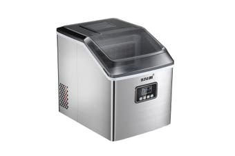 Maxkon 17 Kg Home Ice Maker Machine Stainless Steel Countertop Appliance-Silver