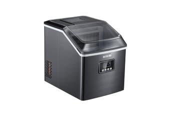Maxkon 17KG Portable Commercial Ice Maker Machine Stainless Steel Fast Freezer Black