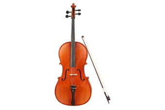 Melodic Full-size 4/4 Cello Outfit with Carrying Case