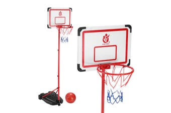 2m Portable Adjustable Basketball Stand Hoop System for Kids w/ Basketball