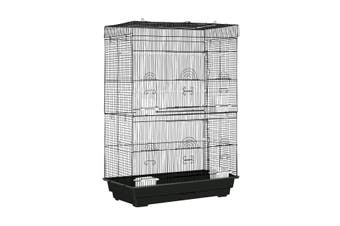 Petscene Large Metal Bird Cage Open Top Aviary Flight Cage for Cockatoo Macaw Parrot Finch