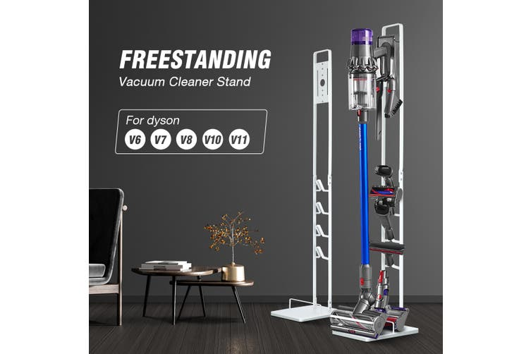 Freestanding Cordless Vacuum Cleaner Metal Stand Rack Hook Dyson V6 V7 V8 V10 V11 White
