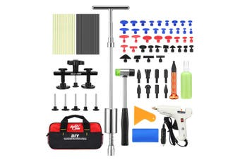 Professional 83 Pieces PDR Paintless Dent Repair Tool Kit Car Dent Removal Puller