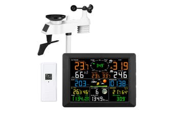 Maxkon WIFI Weather Station Solar Powered for UV Light Temperature Humidity Wind Speed